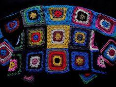 Päätin siivota lankakorit. Päätin... ...että tämä on aito... ...jämälankaprojekti. Minulle se tarkoittaa sitä,... Hippie Crochet, Crochet Clothes, Blanket, Blog, Pattern, Coat, Sweaters, Art, Colors