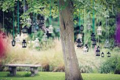 Hanging Flowers And a Matthew Williamson Gown for a 'Country Garden At Night' Inspired Wedding