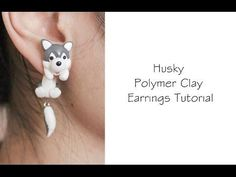 a tutorial on how to make polymer clay earrings of Happy the cat from Fairy Tail anime. Cute Polymer Clay, Polymer Clay Animals, Fimo Clay, Polymer Clay Projects, Polymer Clay Charms, Polymer Clay Creations, Polymer Clay Earrings, Clay Beads, Clay Crafts