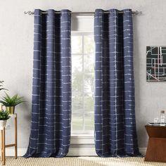 Saki Shibori Print Striped Thermal Blackout Grommet Single Curtain Panel & Reviews | AllModern
