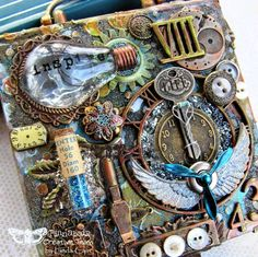 FRIENDS in ART: An Altered Note Box for the Finnabair Blog