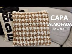 CAPA PARA ALMOFADA EM CROCHÊ DUAL COLOR /DIANE GONÇALVES - YouTube