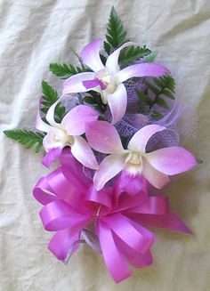prom corsages for 2013   Fresh Standard Lavender Hawaiian Orchid Corsage