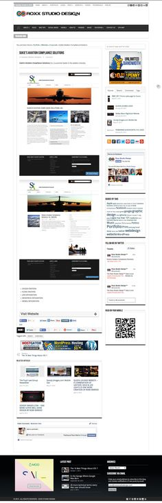 Sukie's Aviation Website #website #design #wordpress