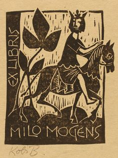 ex libris by kobi baumgartner Ex Libris, Locuciones Latinas, Scratchboard, Tampons, Horse Art, Tribal Art, Illustrations, Art Lessons, Vintage Posters