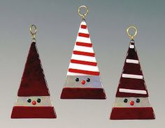 MaJe Gallery: Decorate with Style this Holiday Season Glass Christmas Decorations, Stained Glass Christmas, Glass Christmas Tree Ornaments, Felt Christmas, Homemade Christmas, Christmas Crafts, Xmas, Fused Glass Ornaments, Fused Glass Jewelry
