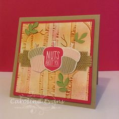 Carolina Evans - Stampin' Up! Demonstrator, Melbourne Australia: Acorny Thank You New Holiday Products #PP256