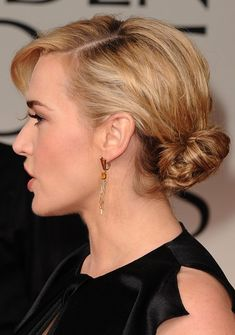 Kate Winslet Haircuts 2013: Formal Updo Hairstyles for Medium Hair