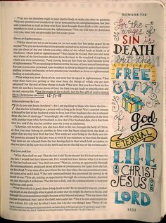 Romans 6:23 - For the wages of sin is death, but the free gift of God is eternal life in Christ Jesus our Lord. Image inspiration from peggy_aplseeds   https://www.instagram.com/p/9YDI0RPXtT/ Colored with Polychromos colored pencils