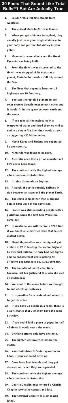 I call shenanigans in 30 facts #12 & #28 are the same fact
