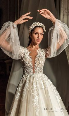 Dream Wedding Dresses, Wedding Gowns, Chic Wedding, Bridal Collection, Bridal Style, Couture Bridal, Bridal Gowns, Marie, Ball Gowns