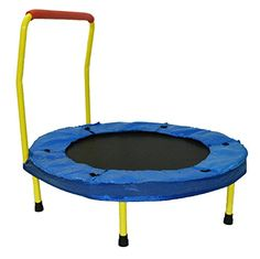 "Dazzling Toys 36"" Foldable Trampoline with handle - Yellow (D032):Amazon:Sports & Outdoors"