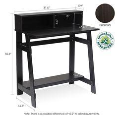 student desk laptop computer writing table parson wood study drawer rh pinterest com