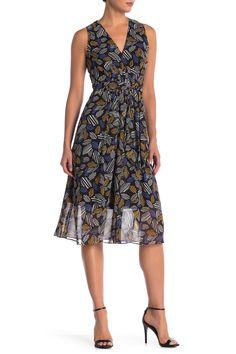 Leaf V-Neck Midi Dress by Anne Klein on V Neck Midi Dress, Nordstrom Dresses, Anne Klein, Nordstrom Rack, Summer Dresses, Fashion, Fashion Styles, Moda, Summer Sundresses