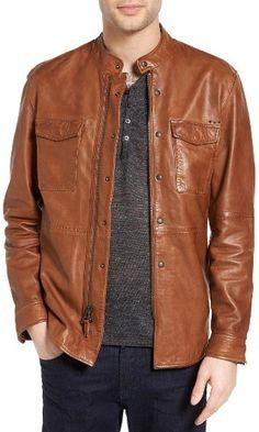 Men's John Varvatos Collection Zip Front Leather Jacket
