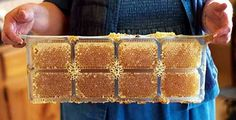 No comb cutting is required. After the bees have filled the cavities with comb honey, the packs can be easily separated from the frame and fitted with a snap-on lid.: