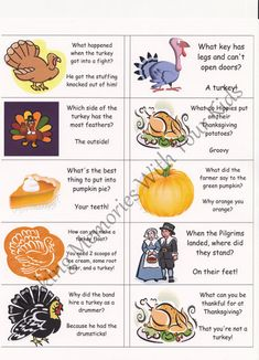 Thanksgiving Lunch Box Jokes Notes {Printable} - Making Memories With Your Kids