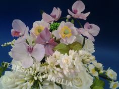 Bouquet orchidee, anemone e tuberosa