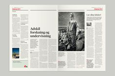 Information \ New design for the danish newspaper Information. Originally established and edited by Børge Outze and published during the World War II by the Danish resistance movement.