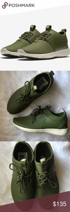 OFFER ME✨ Women's Nike Juvenate Leather Brand new with the box but no lid. Comes in a Nike HQ Sample . Legion Green upper with Oatmeal color sole. Rare colorway and size Nike Shoes Athletic Shoes