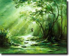 The Swing - Canvas painting by Akiane Kramarik