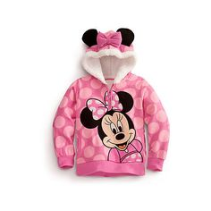 Minnie Mouse Hoodie for Girls (35 NZD) found on Polyvore