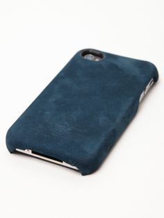 The master-piece Equipment Series Suede iPhone 4 Cover, seen here in dark teal.