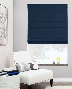 Cascade Roman Shades create a sleek, free-falling appearance with hand-stitched back pleats. View our entire Roman Shade collection and get free swatches!