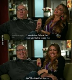 Anti Aging - Getting Older - Relationships - Marriage - Modern Family - when Gloria wouldn't wear glasses Modern Family Funny, Modern Family Quotes, Really Funny, The Funny, Super Fun Night, American Dad, American Modern, Family Love, Best Shows Ever