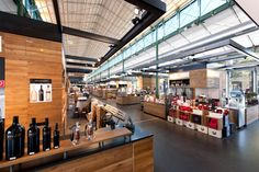 """The """"Schrannenhalle"""" in Munich, a place for good food in a nice atmosphere."""