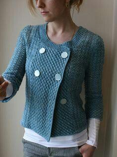 The Yarniad: Blue Daisy Genesis - double breasted sleeve knitted cardi/jacket Knitting Yarn, Hand Knitting, Only Cardigan, Diy Mode, Blue Daisy, How To Purl Knit, Knit Or Crochet, Crochet Clothes, Knitwear