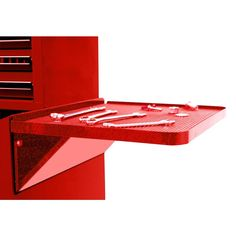 Homak Professional 27 in. Side Folding Shelf in Red