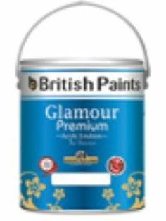 British Paints– Glamour Premium Acrylic Emulsion is a paint for the beautiful interior of a dream home, available in the widest range of mood creating shades and It gives the walls a freshly painted  look.