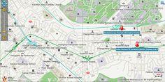 Map of Ewha Women University, Sinchon area, and Hongik University area
