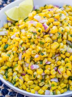 A delicious fresh, bright corn salad just like the salsa served up at Chipotle. A delicious fresh, bright corn salad just like the salsa served up at Chipotle. Corn Salad Recipes, Corn Salads, Appetizer Recipes, Appetizers, Fondue Recipes, Smoker Recipes, Shrimp Recipes, Dinner Recipes, Enchiladas