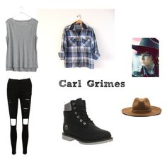 """Carl Grimes inspired outfit"" by jacelyc ❤ liked on Polyvore"
