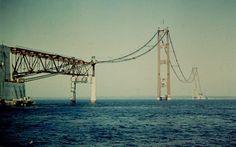 1956 building of the Mackinaw bridge