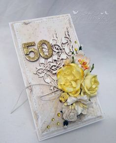RANDI'S LILLE BLOGG Pretty Cards, I Card, Your Design, Congratulations, Diy And Crafts, Decorative Boxes, Anniversary, Floral, Blog