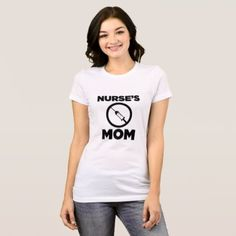 Nurse's Mom - Simple design T-Shirt - family gifts love personalize gift ideas diy