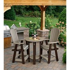 Amish Poly Wood Patio Furniture Dining Set | Plastic Lumber, Outdoor Bar  Sets And Ana White