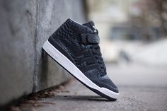 "check out aa10d e91d5 adidas Forum Mid RS ""Black Crocâ"