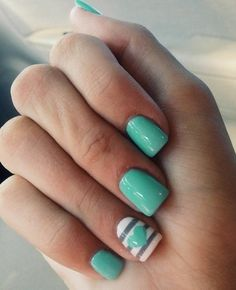 19 awesome spring nails design for short nails teen spring and nails nail art ideas for summer prinsesfo Gallery