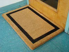 """Black Border Coco Coir Doormat - Heavy Duty Doormats - 30"""" X 48"""""""