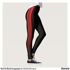 Red & Black Leggings  #fashion #leggings #sports #sportswear #yoga #shop #apparel