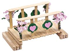 MakingFriends Girl Scout Table Top Bridge Use crafts sticks and foam shapes to build Girl Scout Bridging Centerpiece Craft. Popsicle Stick Houses, Popsicle Stick Crafts, Craft Stick Crafts, Diy And Crafts, Craft Projects, Crafts For Kids, Popsicle Bridge, Popsicle Stick Bridges, Craft Sticks