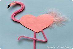 Flamingo Valentine card