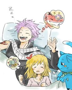 Nalu | So cute, Natsu is dreaming about his lost father...