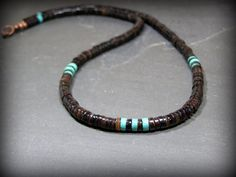 Mens Necklace Turquoise Necklace Native by StoneWearDesigns