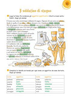 """1 i gruppi CE/CIE, GE/GIE (7); i gruppi SCE/SCI/SCIE/SI (9); i gruppi CU/QU/CQU (12); i gruppi GNI/NI, GLI/LI (23); la punteggiatura (28, 38); l'uso dell'H nel verbo """"avere"""" (37); il discorso diretto e indiretto (47); l'uso del verbo """"essere"""" (49, 50) l'espansione diretta (8); il soggetto e il predicato (16); il predicato verbale e nominale (17); le espansioni indirette (34, 42); la frase semplice e la frase complessa (57) Visita il nostro sito: www.cetem.it Italian Vocabulary, Reading Worksheets, Italian Language, Learn A New Language, Learning Italian, School Bags, Problem Solving, Homeschool, Teaching"""