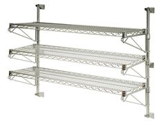 21' Deep x 54' Wide x 54' High Adjustable 3 Tier Chrome Wall Mount Shelving Kit *** Want to know more, click on the image. (This is an affiliate link) #FloatingShelves